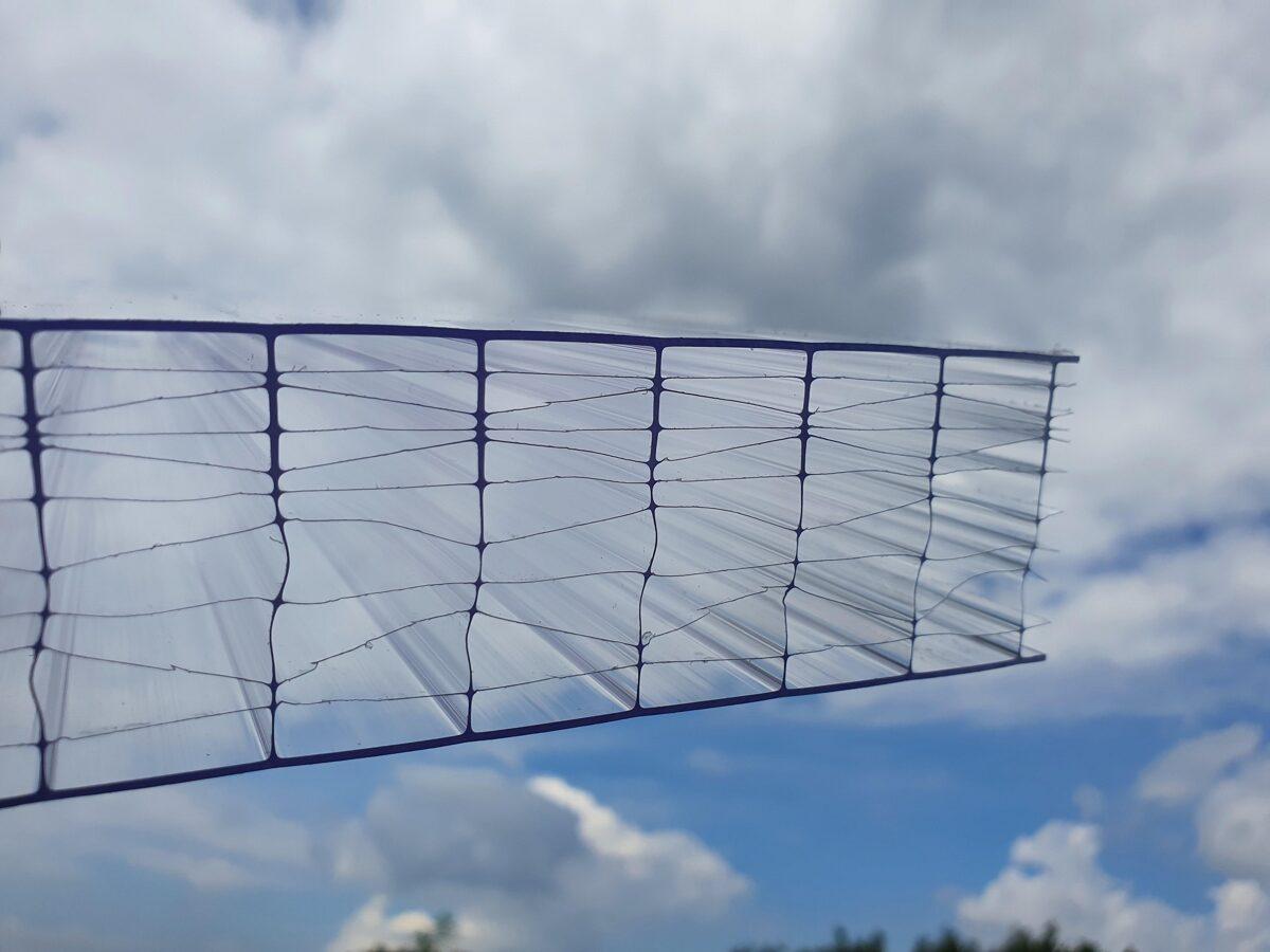 40 mm víztiszta Strong 11X egy oldalon UV védett (10 921 Ft+Áfa/m2)